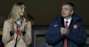 President of AS Monaco Dmitri Rybolovlev and his daughter Ekaterina Rybolovlev. Photograph: Jean Catuffe/Getty Images