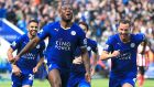 Leicester City's Wes Morgan celebrates scoring what turned out to be the winning goal against Southampton at the King Power Stadium. Photograph: Nick Potts/PA Wire.
