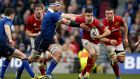 Leinster's Rhys Ruddock tries to curtail Conor Murray at the Aviva Stadium. Photograph: Dan Sheridan/Inpho