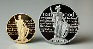 Collectors' items: proof coins are struck using  a high-quality minting process. Photograph:  Jason Clarke