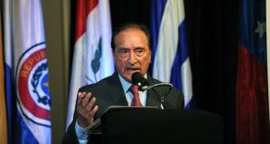 Eugenio Figueredo, a former senior Fifa vice-president recently accused of corruption. Photograph: Getty