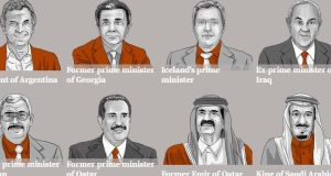 The heads of state and government who have used offshore companies in the Mossack Fonseca data leak. Photograph: ICIJ