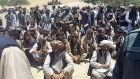 Taliban militants who surrendered in western Badghis province of Afghanistan in July, 2015. The group's website and Twitter accounts have been taken down several times as the Afghan government seeks to disrupt their communications efforts. Photograph: Badghis Governorship/Anadolu Agency/Getty Images