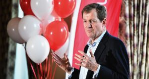 "Alastair Campbell: ""I'm making a guess here but most of the Irish business community are probably for Britain staying in."" Photograph: Getty Images"