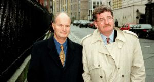 James Stanley, former chief executive of Bula Resources (Holdings) PLC, and solicitor Giles Kennedy leaving the Supreme Court in 1998. Photograph: Marc O'Sullivan/Collins/Dublin