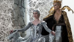 Sister act: Emily Blunt and Charlize Theron in The Huntsman: Winter's War