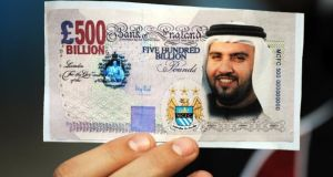 Manchester City were taken over by Sheikh Mansour in 2008. Photograph: Getty