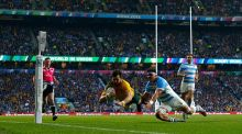 Australia beat Argentina in the 2015 Rugby World Cup semi-finals at Twickenham. Photograph: Getty