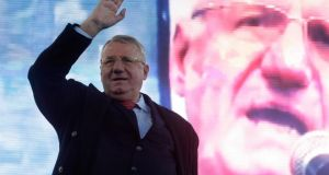 UN war crimes judges found radical Serb leader Vojislav Seselj not guilty on all nine charges. Photograph: Andreq Cukic/AP