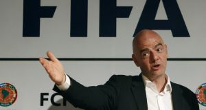 The Panama papers leak has dragged president Gianni Infantino into the Fifa corruption scandal. Photograph: Epa