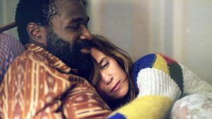Two's company: Kristen Wiig and Tunde Adebimpe in Nasty Baby