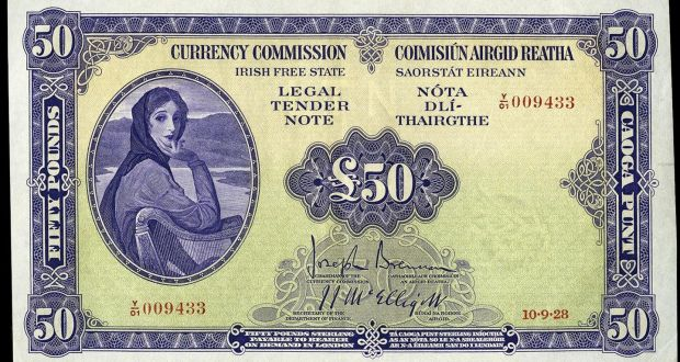 Lady Lavery Irish Free State 50 Banknote Worth A Fortune