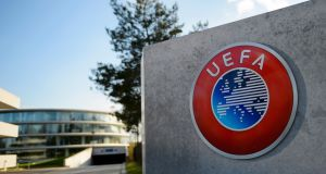 Swiss police raided the headquarters of European football body Uefa  following the latest revelations of a web of Panama-based offshore financial dealings by the rich and famous. Photograph: Fabrice Coffrini/AFP/Getty Images