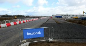 The site of Facebook's data storage facility in Co Meath which will be its second in Europe. It will employ 115 when complete. Photograph: Ciara Wilkinson