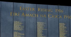 Forty-one of the British army names on the Remembrance Wall at Glasnevin are those of Irish men: Photograph: Cyril Byrne