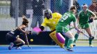 Ireland goalkeeper Ayeisha McFerran was in fine form for Ireland against Australia but couldn't prevent a 3-0 defeat. Photograph: John Cowpland/Inpho