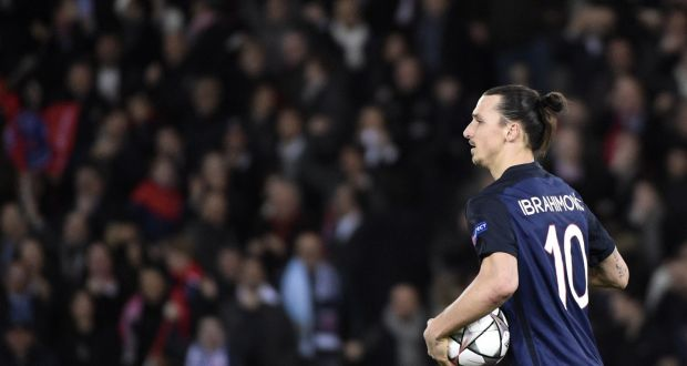 e275335d5 Paris Saint-Germain s Swedish forward Zlatan Ibrahimovic after scoring  against Manchester City on Wednesday night