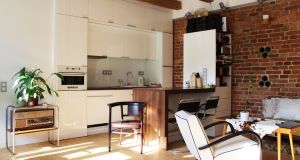 Industrial kitchen on the Houzz site