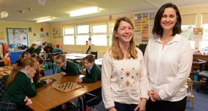 Principal Kiara Drake, on left, and Mind Lab teacher Natasha Pearson at Rathdown Junior School. Photograph: Eric Luke