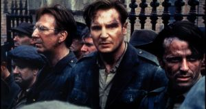 Michael Collins. Liam Neeson ably plays the sexiest Irish revolutionary of them all taking on the English (boo!) as well as Alan Rickman's almost traitorous De Valera (boo!) in Neil Jordan's only slightly inaccurate historical biopic from 1996, Michael Collins (yaay!).
