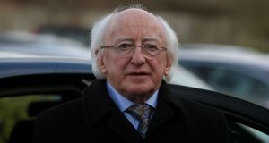 President  Michael D Higgins said the pressures of the labour market are impacting on universities. Photograph:  Brian Lawless/PA