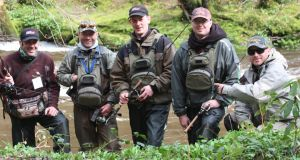Coarse fishing team (from left) Colin Rutherford, Jacek Gorny, Andrew Powell, Lindsay McFadden, Tomek Kurman