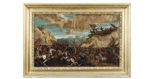 The Israelites Attacking the Amalekites (oil-on-marble panel) attributed to Antonio Tempesta, €28,000