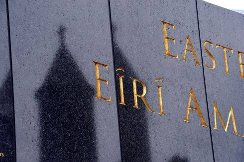 MONDAY: Detail showing typo on the Remembrance Wall at Glasnevin Cemetery.  Photograph: Cyril Byrne / The Irish Times