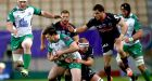 Connacht's Danie Poolman tackled by Ben Hand and Lucas Dupont of GrenoblePhotograph: INPHO/James Crombie
