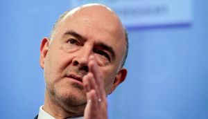 European Commissioner in charge of economic and financial affairs Pierre Moscovici. Photograph: Olivier Hoslet/EPA