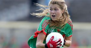Sarah Rowe: scored two goals as Mayo defeated Monaghan in Ballina. Photograph: Morgan Treacy/Inpho