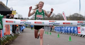 Fionnuala McCormack was victorious in the Great Ireland Run. Photograph: Inpho