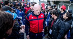 Grenoble's head coach Bernard Jackman arriving for  the club's home European Rugby Challenge Cup quarter-final clash with Connacht last weekend. Photograph: James Crombie/Inpho