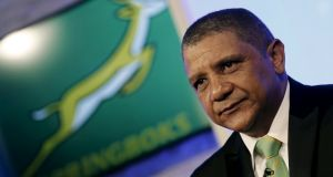 Allister Coetzee was on Tuesday unveiled as the South Africa Springboks' new rugby coach in Randburg, outside Johannesburg. Photograph: Reuters