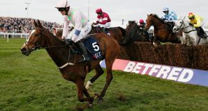 Vautour ridden by Ruby Walsh during the Aintree festival. Photograph: Jason Cairnduff/Reuters