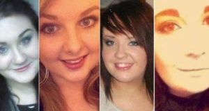 Ashling Middleton, Chermaine Carroll, Gemma Nolan and Niamh Doyle died after the car they were travelling in collided with a van near Athy.