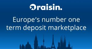 Raisin.com has just launched in Ireland, allowing	Irish savers to access the online platform to shop around for the best deposit rates across Europe.
