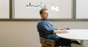 Slack founder Stewart Butterfield. The company  currently has 30 people at its existing European base in the Digital Hub in Dublin and now plans to hire an additional 80 as it moves its European headquarters to the capital. Photograph: Jason Henry