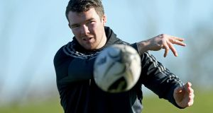Peter O'Mahony: may only  be  back from injury for  the week of the Guinness Pro12 final next month. Photograph: Donall Farmer/Inpho