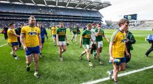 Roscommon and Kerry players leave the pitch in Croke Park. We know  trying to replicate some sort of league format during the summer just won't attract support. Photo: Cathal Noonan/Inpho