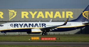 Ryanair was among the most actively traded, falling more than 1 per cent to €13.06. Photograph: Chris Radburn/PA Wire