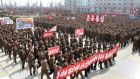 North Koreans attend a rally held to gather their willingness for a victory in a possible war against the United States and South Korea in Nampo, North Korea – the country is a state actor of some concern