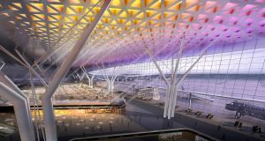 China's proposed Urumqi airport, which evokes the region and cityscape, but doesn't do much for already knackered passengers