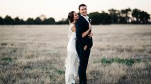 Our Wedding Story: Fairy lights and machinery in  an Aussie barn