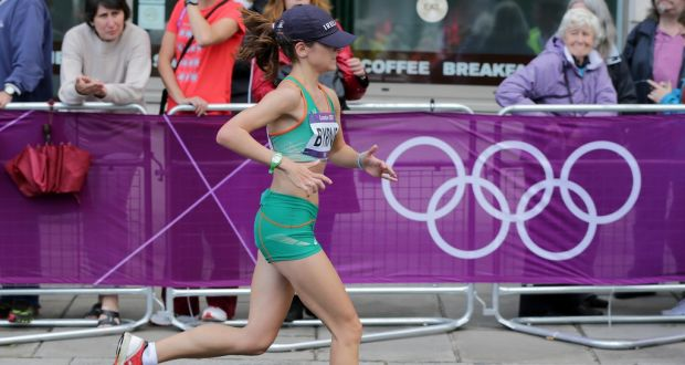 """c5b7000295742 Linda Byrne competing for Ireland in the Women s Marathon at the London  Olympics  """"I"""
