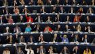 Members of the European Parliament take part in a voting session in Strasbourg, France. Photograph: Vincent Kessler/Reuters