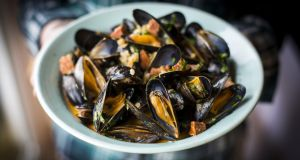 Donal Skehan: Spiced Mussels with Gubbeen Chorizo and Irish Cider