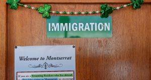 Shamorck decorations greet visitors upon arrival in Montserrat West Indies.  Photograph: Frank Miller  / The Irish Times