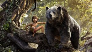 Bear essentials: Neel Sethi as Mowgli  with Baloo (voiced by Bill Murray) in The Jungle Book