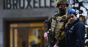 High alert at Brussels Central Station following attacks in the Belgian capital on March 22nd, 2016. Photograph: Emmanuel Dunand